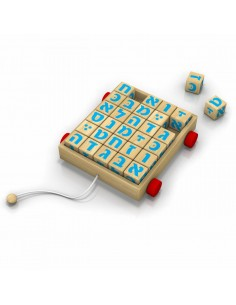 Traineau de Cubes de Lettres en bois