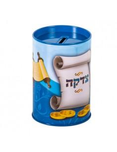 Boîte de Tsedaka (charité) teinte bleu