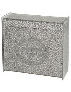 Boite à matsa en plexiglas transparent avec paillettes 21X23 cm