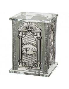 Coffret de tsedaka en cristal